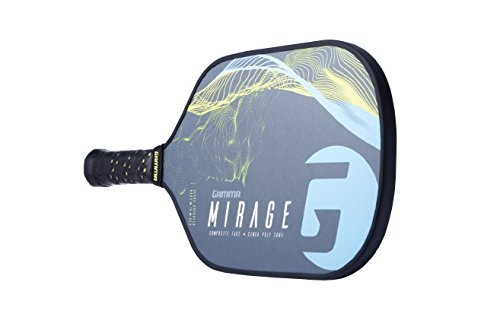 Gamma Mirage Composite Pickleball Paddle: Pickle Ball Paddles for Indoor & Outdoor Play - USAPA Approved Racquet for Adults & Kids - Blue/Yellow by Gamma (Image #5)