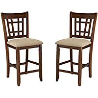 Imagio Home MI-BS-850C-DMI-K24 Mission Casual 24 Lattice Back Barstool, Set of 2