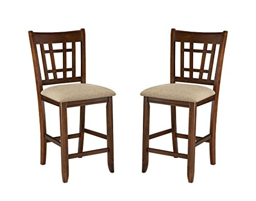Oak Traditional Bar Stools (Imagio Home MI-BS-850C-DMI-K24 Mission Casual 24