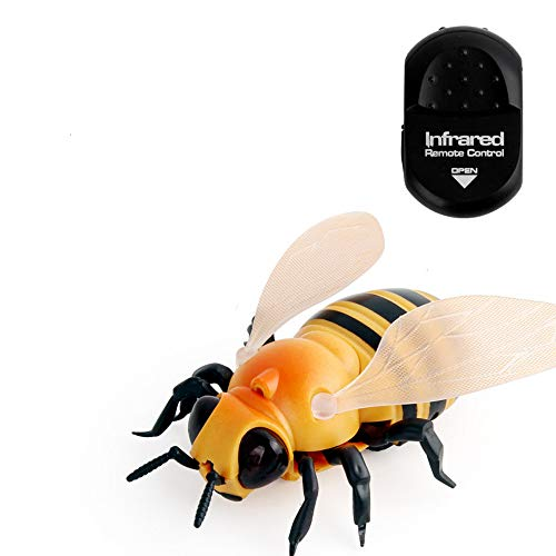 Kasien Realistic Remote Control Bee Flies Insect Animal