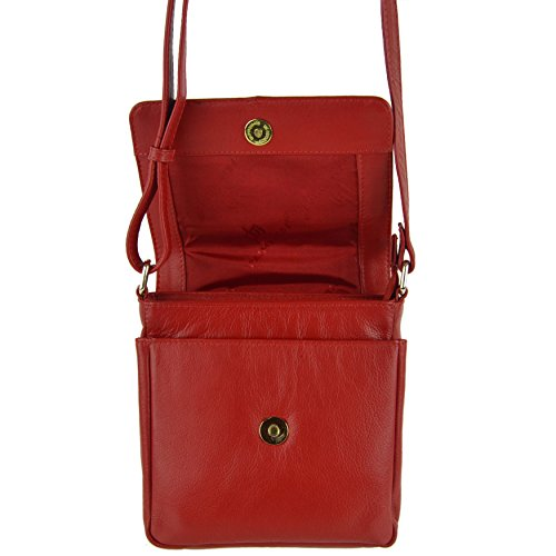 5 Body PrimeHide Cross Shoulder Ladies By BAG Small Red LEATHER Handy Black Colours HxARTwzaq