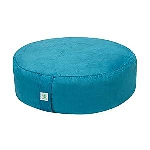 Gaiam Zafu Meditation Cushion, Teal