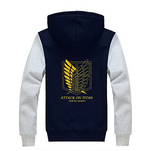 Attack Capuche Aot D'hiver Roleplayshop L'attaque Adulte Cosplay Sweatshirt À Épaissir Hoodie Sleeve Des white Manteau Corps Golden Sweat Pull Titan Costume On Titans Survery 7qdSwnd4RX