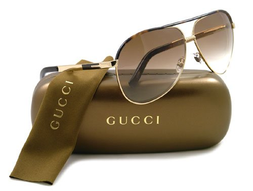 62f780a6dc2c Gucci 1827/S Aviator Sunglasses,Gold Frame/Brown Gradient Lens,One Size