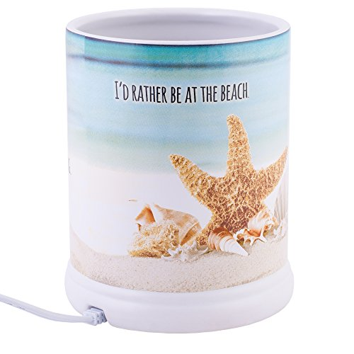 Elanze Designs Shake The Sand from Shoes Beach and Ocean Stoneware Electric Jar Candle Warmer by Elanze Designs (Image #3)