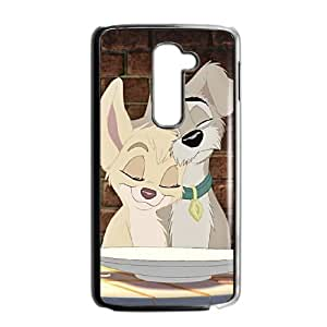 LG G2 Phone Case Black Lady and the Tramp II Scamp's Adventure BXF280660