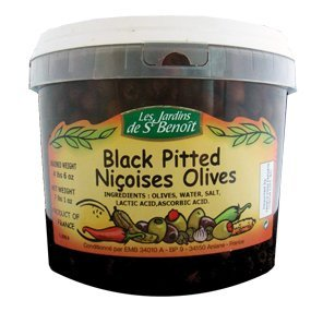 Black Olives, Nicoises Pitted - 7.1 Lb.