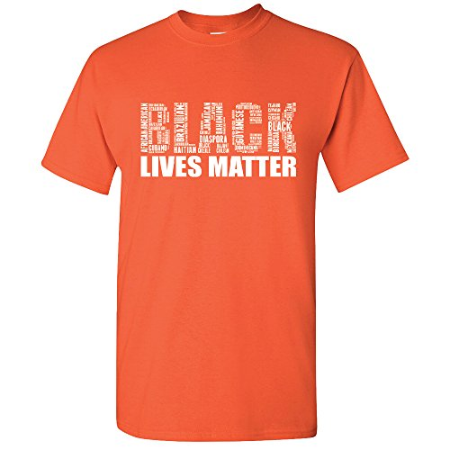 Hawain Outfit (Amazing Items Black Lives Matter From All Over The World Civil Rights Men's T-Shirt, 3X-Large, Orange)