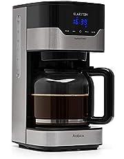 Klarstein Arabica - Macchina del Caffè, Macchina per Caffè Americano, 900W, EasyTouch Control, 1,5 L, Fino a 15 Tazze, Incluso Filtro Permanente, Colore Argento/Nero