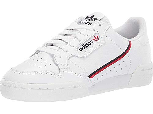 adidas Originals Men's Continental 80 Sneaker, White/Scarlet/Collegiate Navy, 9.5 Medium US