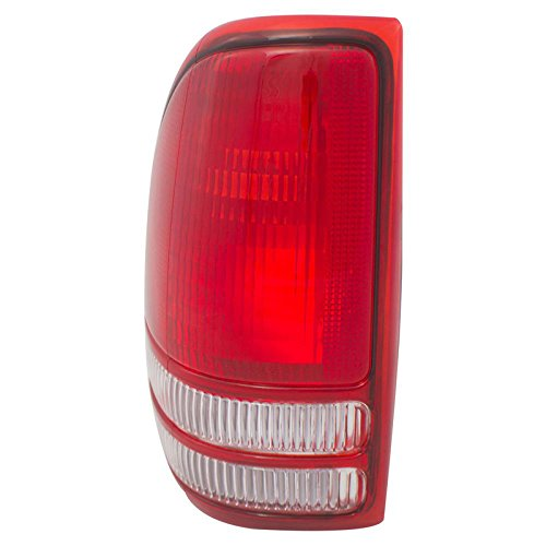 CarPartsDepot 97-04 Dodge Dakota Driver Tail Lamp CH2800126 Rear Brake Stop Light Lens (Dodge Dakota Pickup Brake)