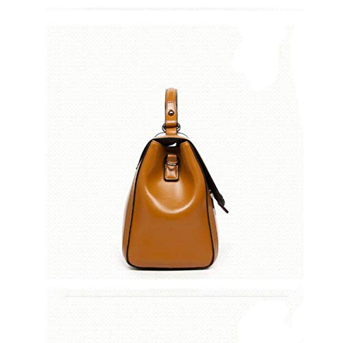 Handbag Bag Leather Bag Leather Single Shoulder Bag Girl Fashion Lady Hongge B Messenger HwTxzqw