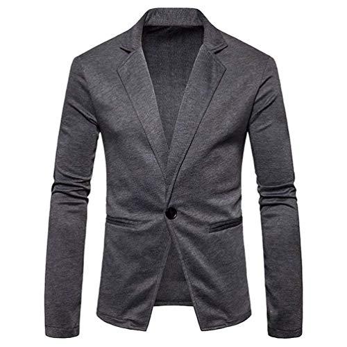 Modernas Color Abrigo De Fit Hombre Sólido Blazer Casual Chaqueta Traje Para  Botón Slim Un Dunkelgrau Elegante dXwS5x0q 9a08a2afa7e8