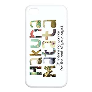 Funny For Iphone4/4s Black or White Best Rubber Cover Case-Creative New Life hjbrhga1544
