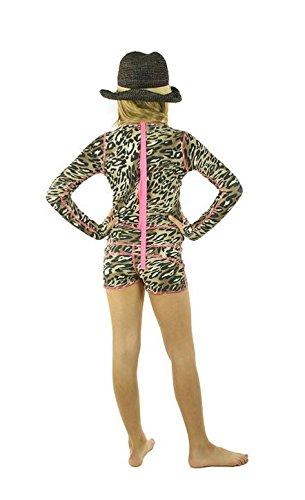 TutuBlue Girls Short Beach Suit UPF50 - As Seen On Shark Tank (10-11, Pink Leopard)