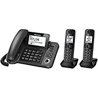 Panasonic KX-TG572SK DECT 6.0 Plus Corded / Cordless Combo Phone System with 2 Cordless Handsets (plus one corded handset) (Certified Refurbished)