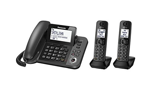 DECT 6.0 Plus Corded / Cordless Combo Phone System with 2 Cordless Handsets (plus one corded handset) (Renewed) ()