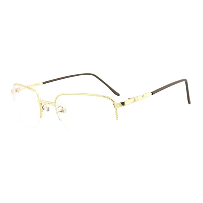 34ffb43c877 Haodasi Durable Half Frame Glasses Short Sight Nearsighted Myopia  Anti-fatigue Eyeglasses -1.00~-6.00 for Men Women (These are not reading  glasses)  ...
