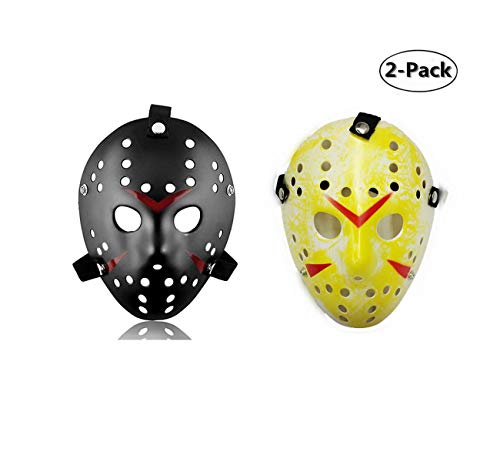 Ru S 2 Pieces Costume Mask Halloween Costume Cosplay Hockey Mask ()