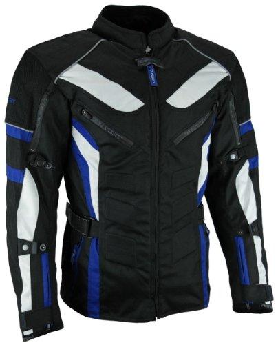 HEYBERRY Touren Motorrad Jacke Motorradjacke Textil schwarz blau Gr.3XL