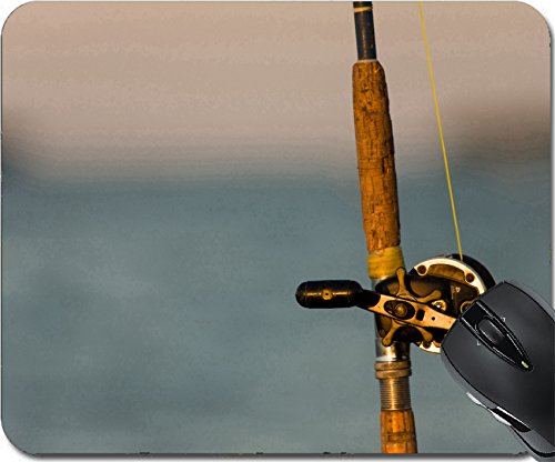 ouse Pad Mouse Pads/Mat design 23353424 Vintage fishing rod and reel close up outdoors (Antique Rods Reels)