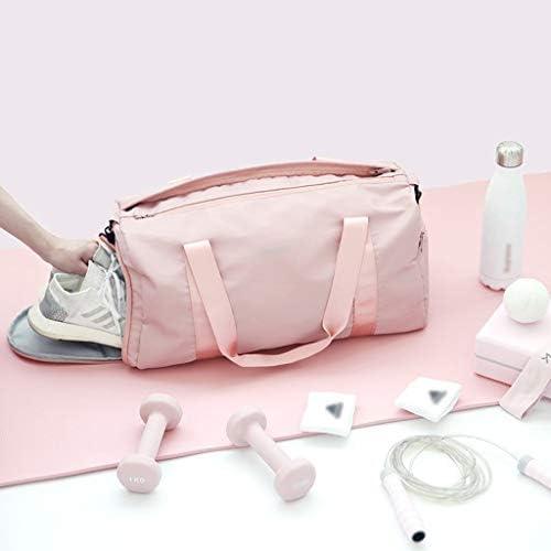 多機能アウトドアスポーツウェア収納袋ポータブル近距離旅行荷物ドライとウェットの分離独立した靴バッグ大容量設計 HMMSP (Color : Pink)