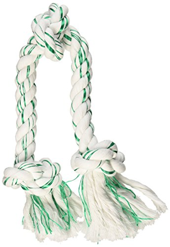 Booda Fresh N Floss 3 Knot Tug Rope Dog Toy, Large, Spearmint (Large Dog Toys Rope)