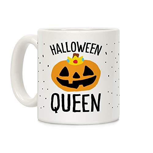 LookHUMAN Halloween Queen White 11 Ounce Ceramic Coffee Mug -