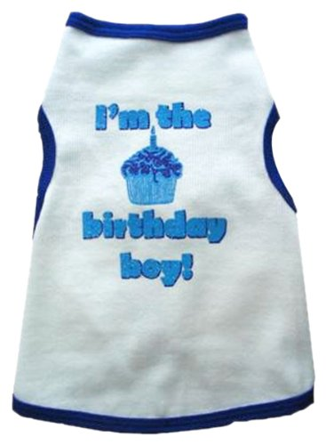 I See Spot's Dog Pet Cotton T-Shirt Tank, Birthday Boy, XX-Large, White
