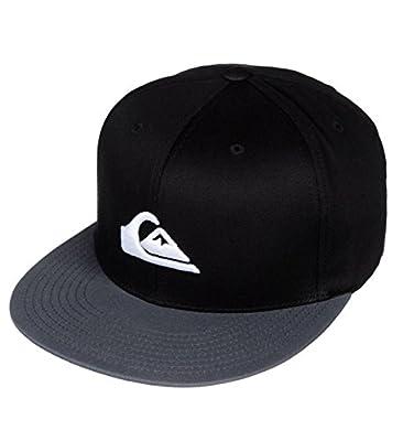 Quicksilver Surfing Wave Mountain Hat Skateboarding Baseball Cap (Black/Grey)