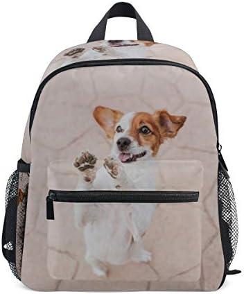 犬パグ子犬幼児バックパックブックバッグミニショルダーバッグ1-6年旅行男の子女の子子供用チェストストラップホイッスル