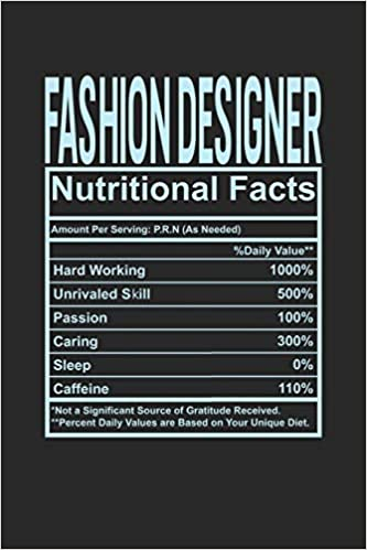Amazon Com Fashion Designer Nutritional Facts 6x9 Blank Notebook 120 Pages Composition Book And Journal Funny Gift For Your Favorite Fashion Designer 9781074583736 Publishing Dennex Books