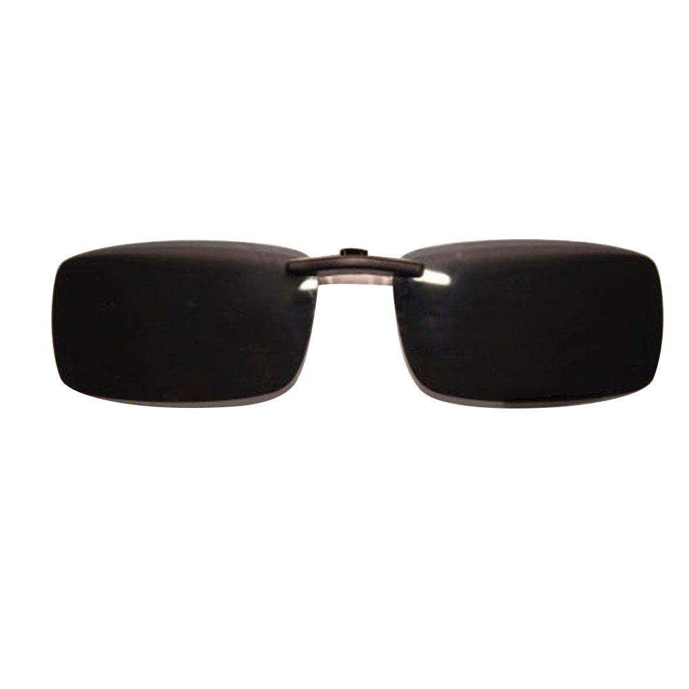 Polarsierte Gläser, gespiegelte, polarisierte, rahmenlose, rechteckige Flip-Up Sonnenbrille zum Aufstecken. Unisex, dunkelgrün