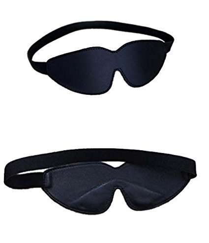 Eimee Real Leather Blindfold Padded Eye Mask Hood (One Size Fits Most) ()