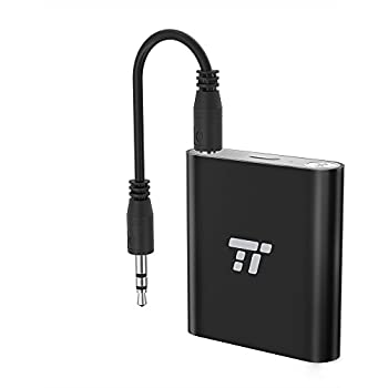 TaoTronics 65ft Bluetooth Transmitter Long Range 3.5mm & RCA Wireless Audio Adapter for TV (aptX Low Latency, Bluetooth 4.1, Pair 2 Stereos Headphones at Once)