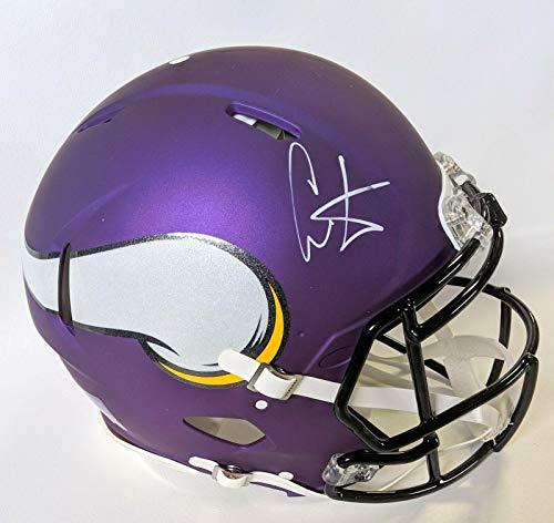 Autographed Cris Carter Helmet - Authentic Matte Speed F s W Coa - JSA Certified - Autographed NFL Helmets