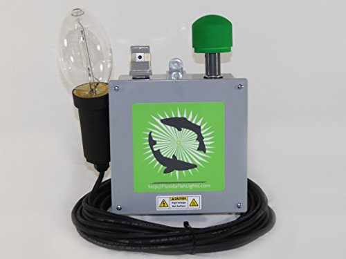 7,900 Lumen Green Underwater Dock & Fish Light by 175 Watt HID Green Underwater Dock & Fish Light Single Lamp System (Image #5)