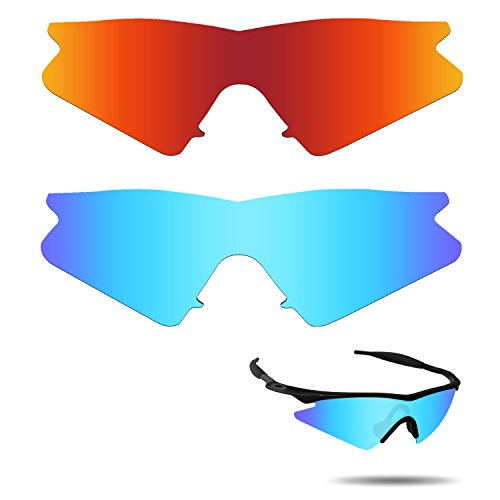 Fiskr Anti-saltwater Polarized Replacement Lenses for Oakley M Frame Sweep Sunglasses 2 Pairs - M Frame 2