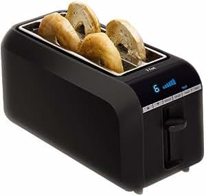 T-fal TL6802 4-Slice Digital Toaster with Bagel Function, Black