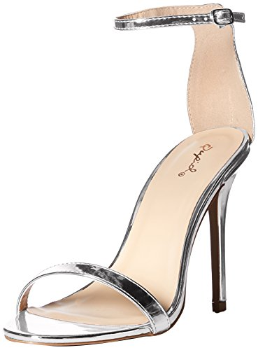 Heeled Silver Sole Women's Qupid Sandal Single x0w6tfF