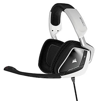 Corsair CA-9011139-NA Binaural Diadema Negro, Blanco Auricular con micrófono - Auriculares