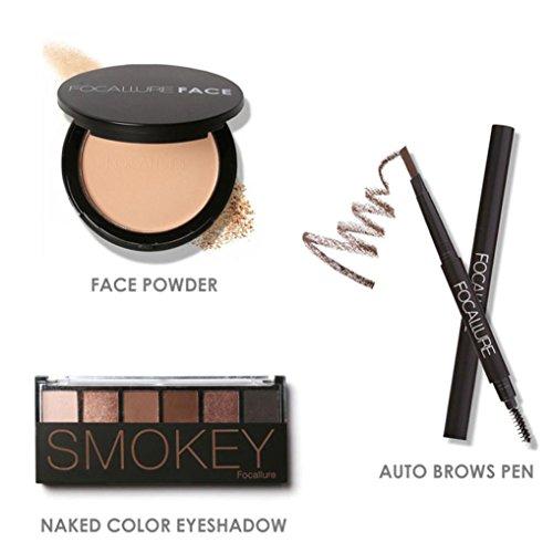 Fullkang FOCALLURE Makeup Set Eye Shadow Eyeliner Mascara Lipstick Powder Fashion Simple Makeup (B #)