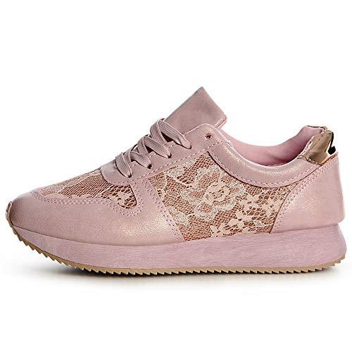 Sneaker Chaussures De Femmes Topschuhe24 Sport Rose wvqfUPxS