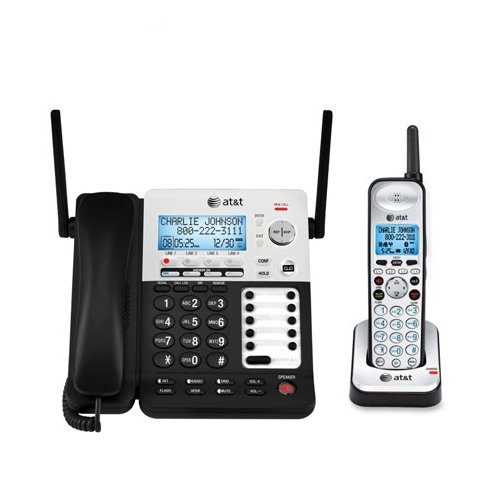 80-7959-00 4-Line Corded/Cordless Small Business System W/Extendable Range & Push-To-Talk Intercom - Model#: sb67138 by Vtech (Image #4)