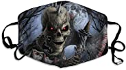 Comfortable Adjustable Halloween Scary Horror Skeleton Skull Facial Decorations For Women And Men