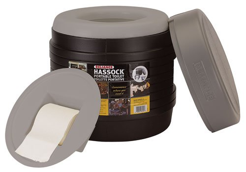 Hassock Portable Lightweight Self-Contained Toilet