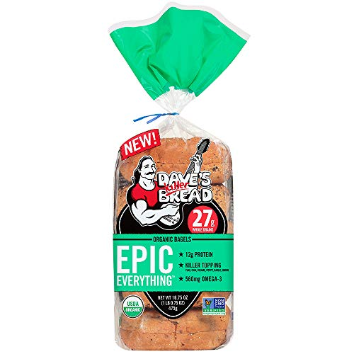 Daves Killer Bread Epic Everything Organic Bagels, 16.75 oz