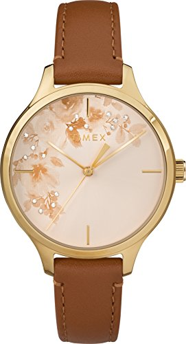 Timex Womens Analogue Classic Quartz Watch with Leather Strap TW2R66900