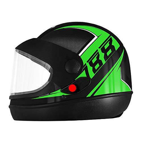 Pro Tork Capacete Super Sport Moto 2019 Fosco 56 Preto/Verde