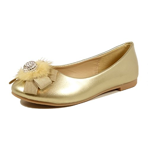 Nova Utopia Toddler Little Girls Dress Casual Flat Shoes NF Utopia Girl NFGF072New Gold 2